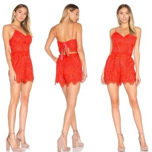 Lovers + Friends lace romper